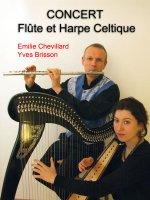 Flûte et harpe celtiques
